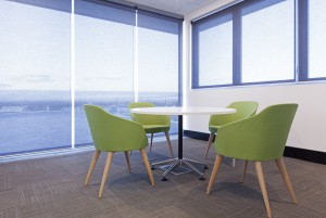Chairs and table in a lawyers offices