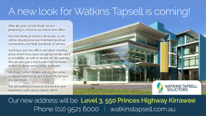 Watkins Tapsell is moving!