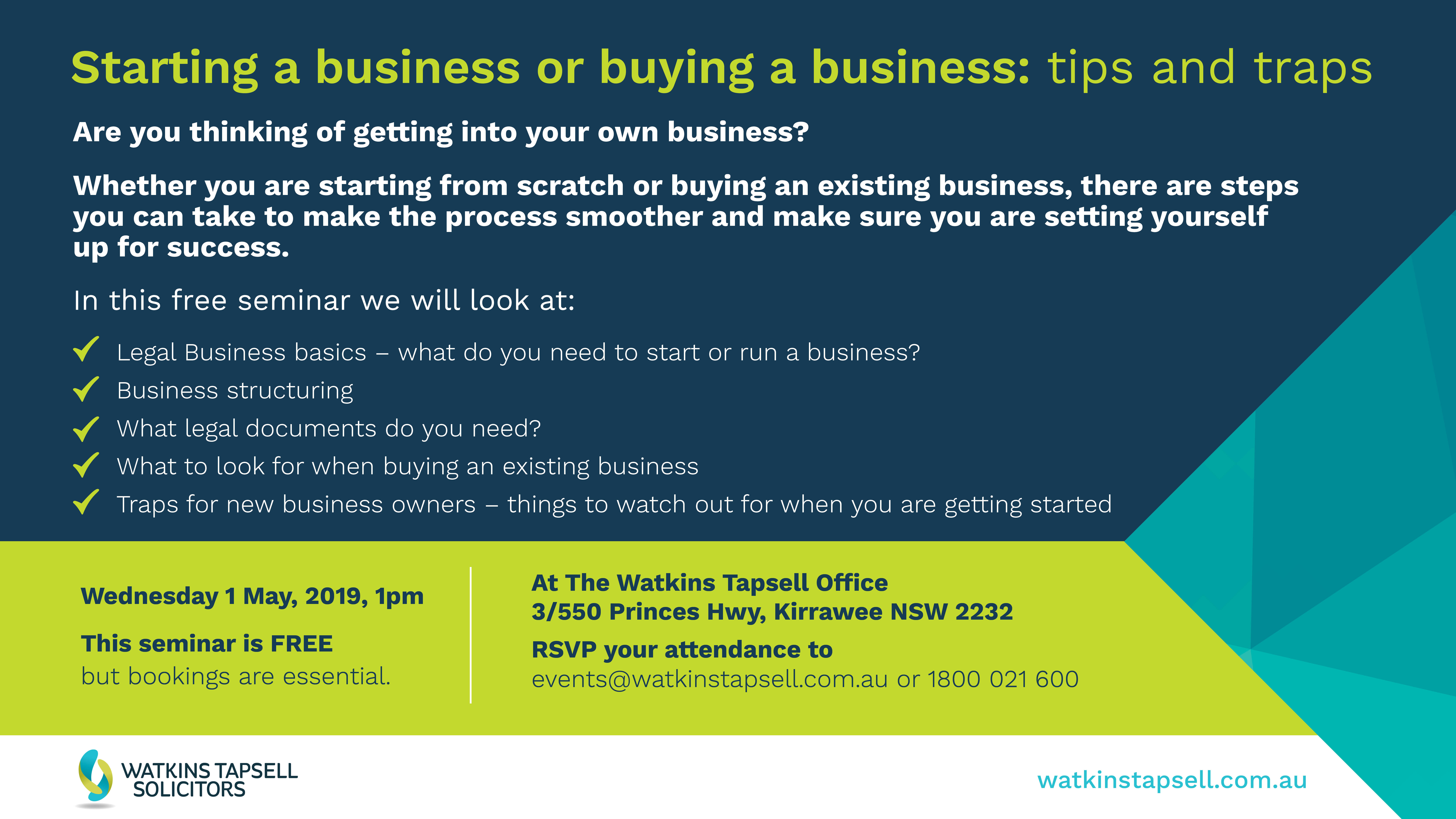 Business tips and traps or TV Screens